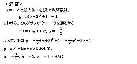 関数 2次関数の最大・最小 演習19 解答