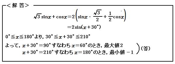 例題59 三角関数 三角関数の合成 解答