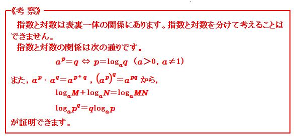 対数関数 等式の証明 考察