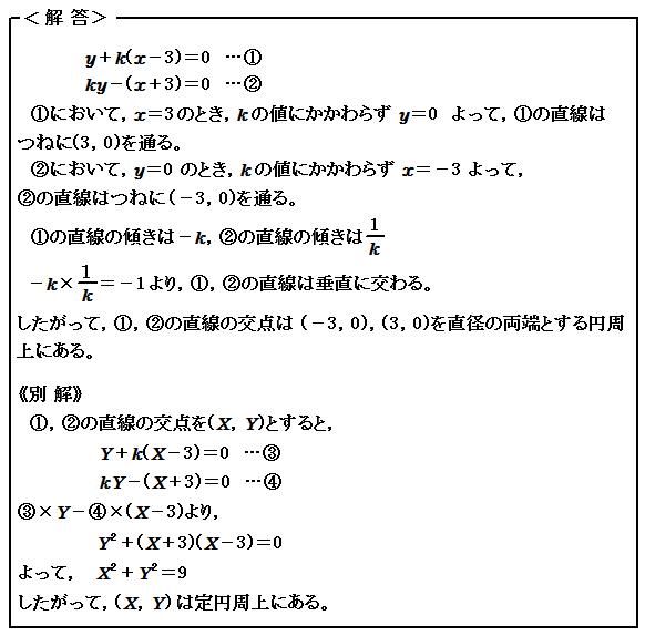 演習55 図形と方程式 軌跡 解答