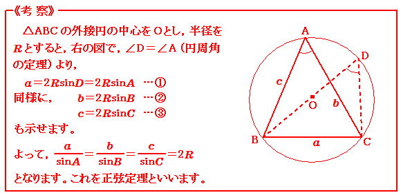 図形と計量 正弦定理 考察