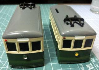 基本塗装まで終わった別大線100形風路面電車