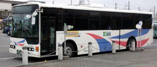 新習志野駅前ロータリーの京成バス