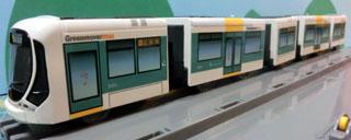 広島電鉄5100形 グリーンムーバMAX 5両編成