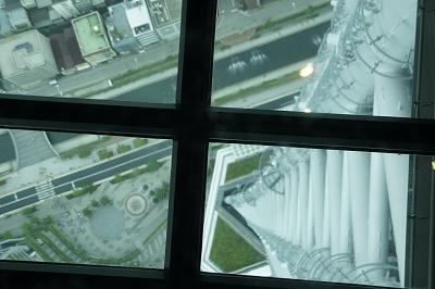スカイツリーガラス窓