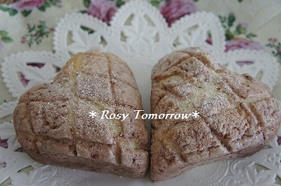いちごハートパン