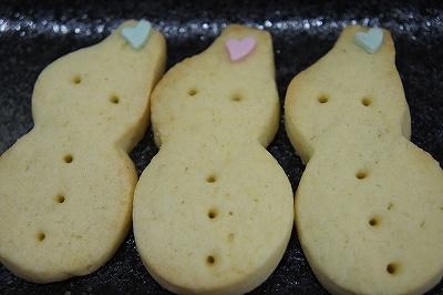 雪だるまクッキー2