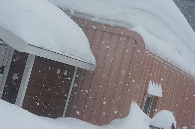 翌日も大雪