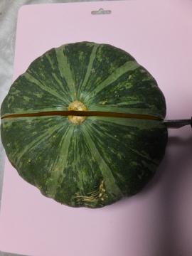 かぼちゃ簡単に切れます5