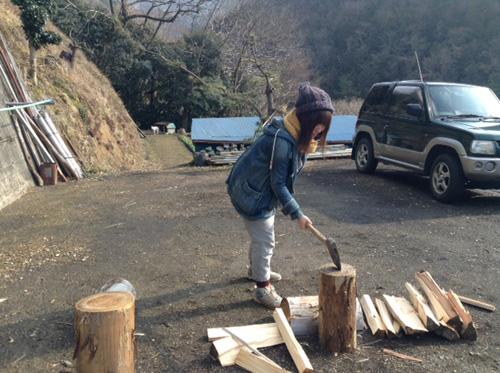 徳島薪割り体験