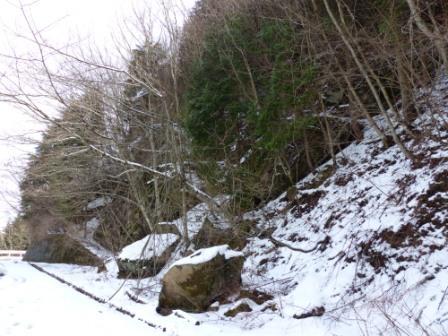 皿ヶ嶺の雪