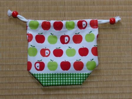 りんご柄 コップ袋