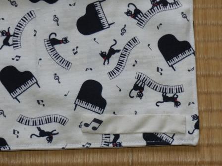 ピアノ・猫柄 名札