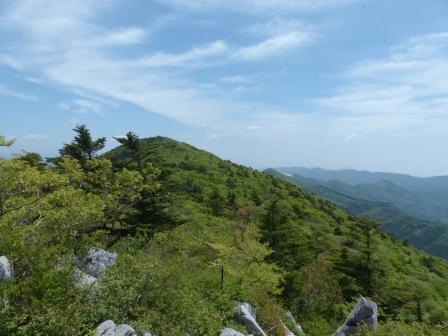 天狗の森登山道からの眺め