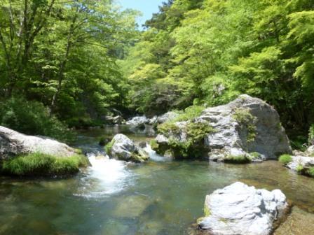 小田深山渓谷 風景