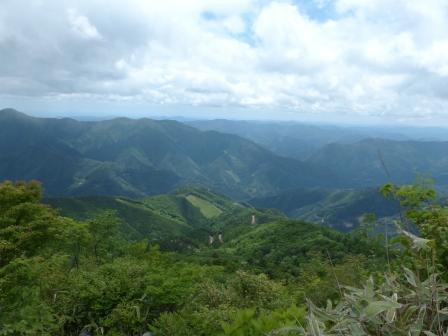 天狗の森 頂上近くからの眺め