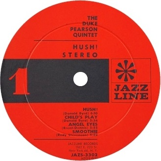 Duke Pearson Hush! Label Jazs-3302