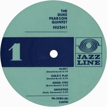 Duke Pearson Hush! Label PA-3080M