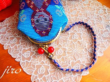 ビーズ編みがま口-赤ずきん10