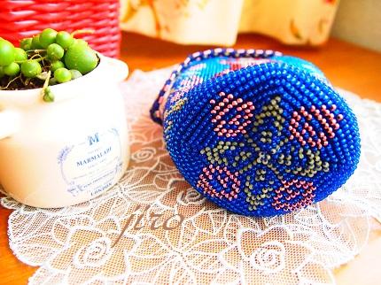 ビーズ編みがま口-赤ずきん11