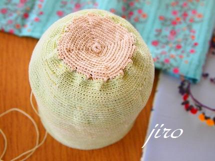 ビーズ編みがま口-summer rose 2014.2