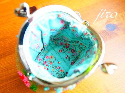 ビーズ編みがま口-summer rose2014.6