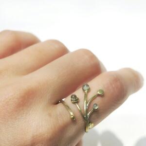 枝と雫のリング