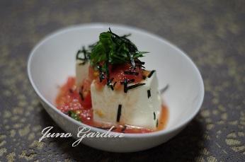 トマトソース豆腐の