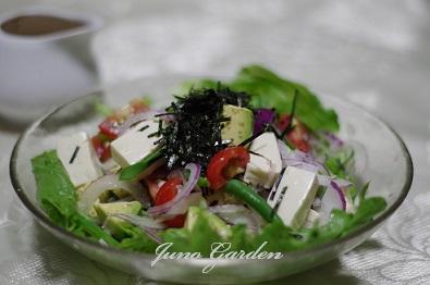 サラダ豆腐、アボガド、トマト