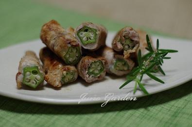 オクラ巻豚肉
