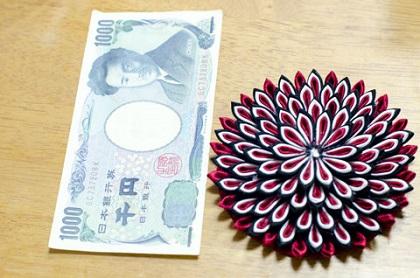 成人式赤白黒菊
