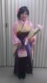 富永真由さん卒業式