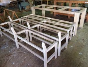 テーブルベンチ組み上がり