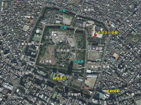 駿府城_地形図