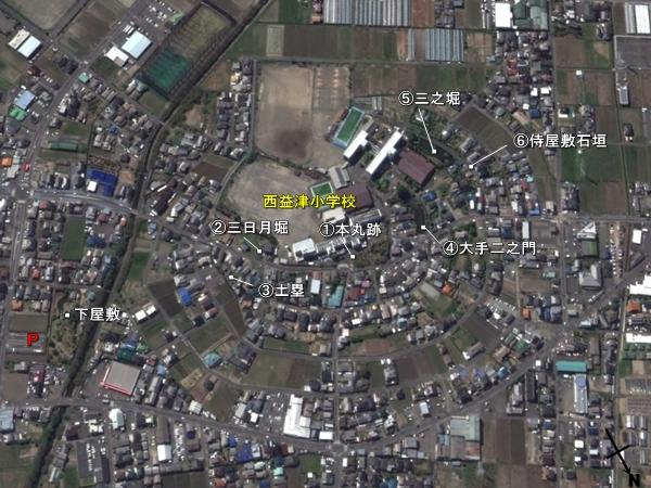 田中城_地形図