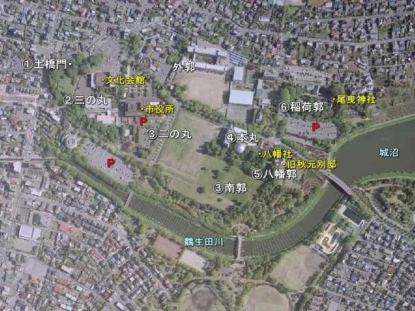 館林城_地形図
