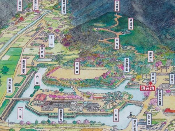 鹿野城案内図