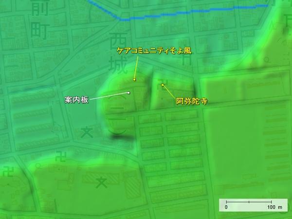 小幡城地形図