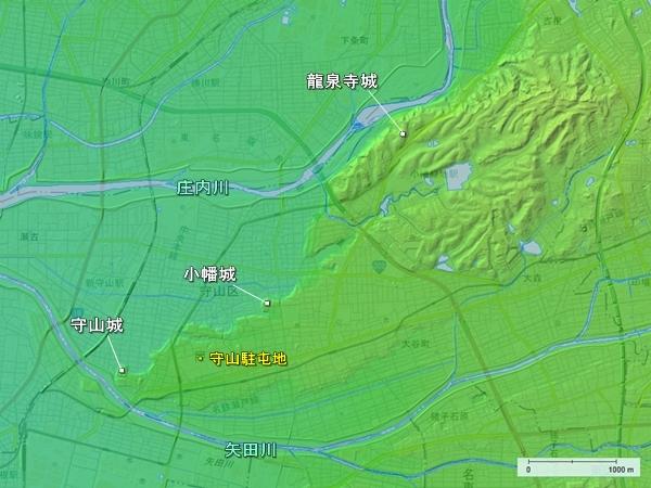 守山区地形図