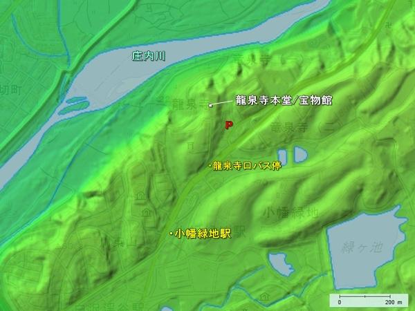 龍泉寺城地形図