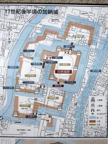 加納城案内図