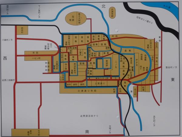 曽根城案内図