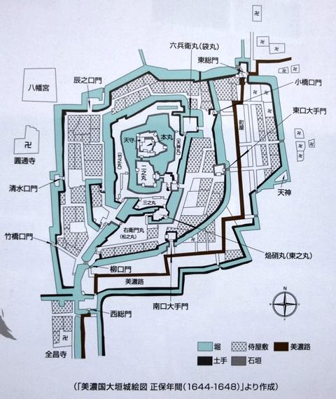 大垣城案内図