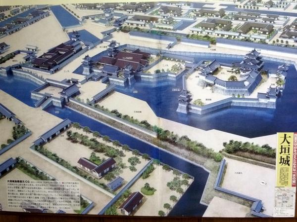 大垣城復元図