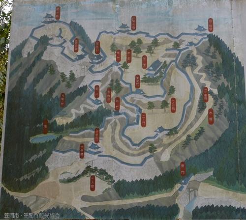 笠間城案内図