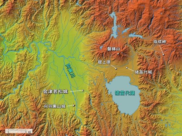 会津_地形図