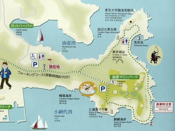 新井城案内図