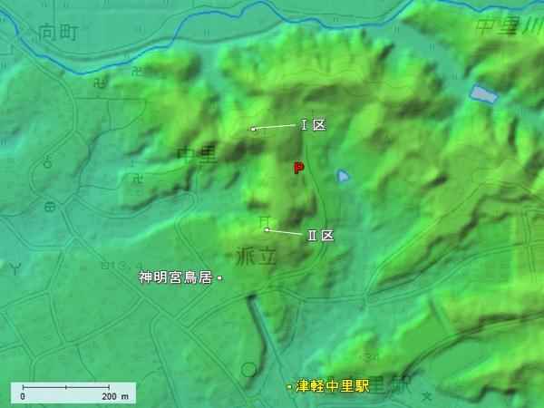中里城地形図