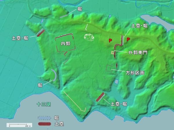 福島城地形図