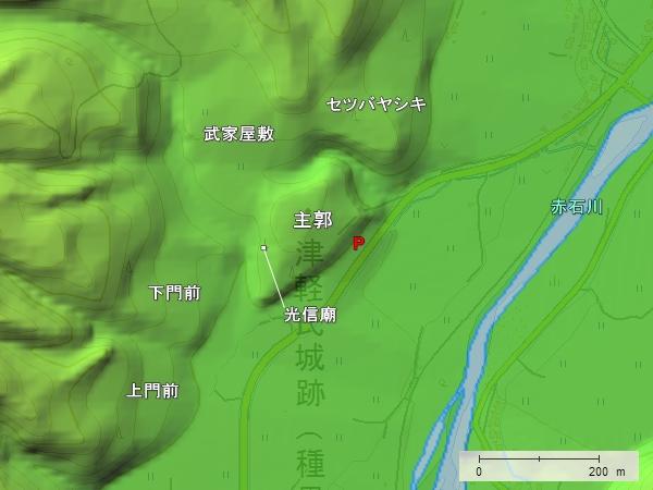 種里城地形図